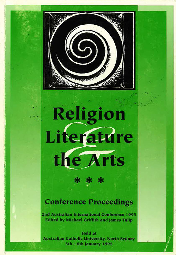 cover image religion literature and the arts 1995