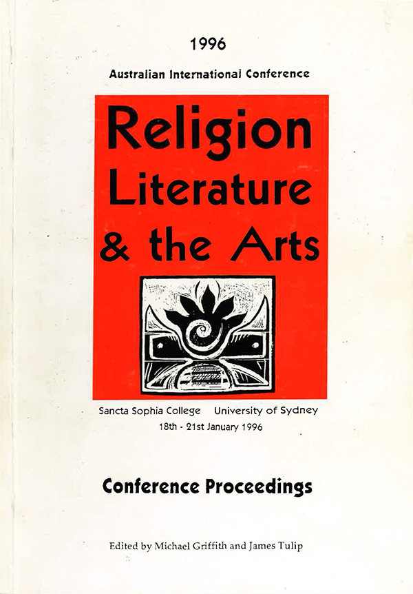 cover image religion literature and the arts 1996